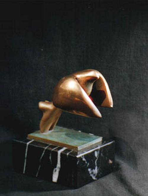 Trofeo bronce. Paloma.