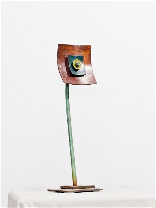Flores de bronce. Flor abstracta 4