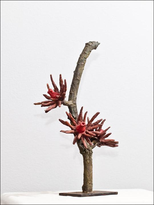 Figuras de bronce. Flor crasa 1.