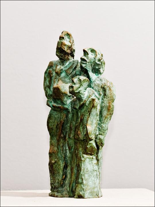 Esculturas de bronce - figuras de bronce - Tres amigos.
