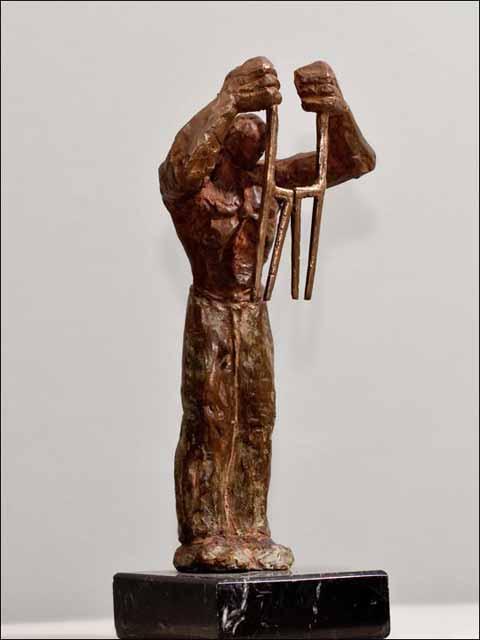 bronce escultura. Layador