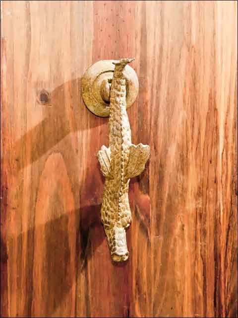 Aldabas puertas. Aldaba dragón - 1