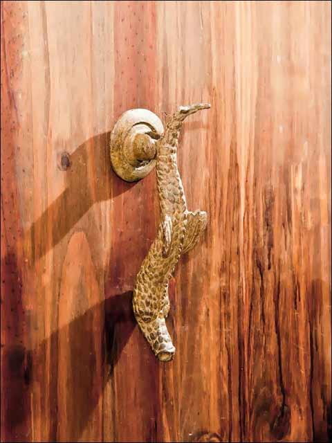 Aldaba puerta. Aldaba dragón -2