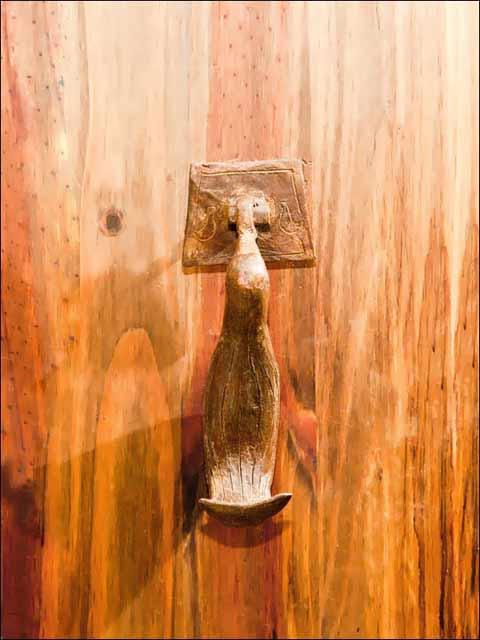 Llamador de puerta. Aldaba pájaro -2