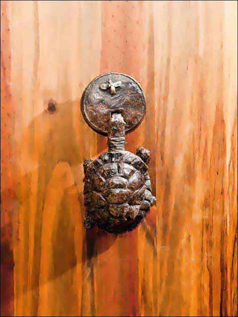 llamador puerta - aldaba tortuga