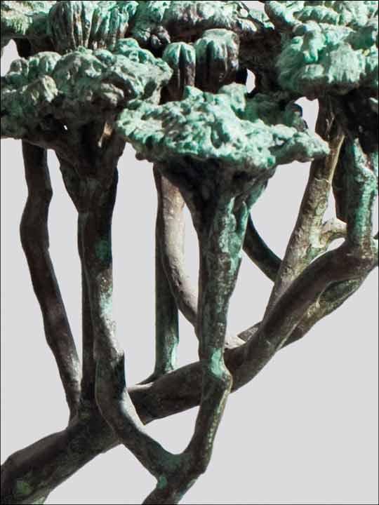 esculturas de bronce - figuras decorativas - Arbol.