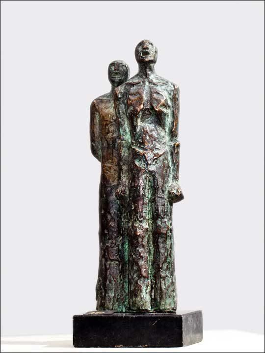 Estatuillas de bronce. Figuras decorativas de bronce - Bertsolariak.