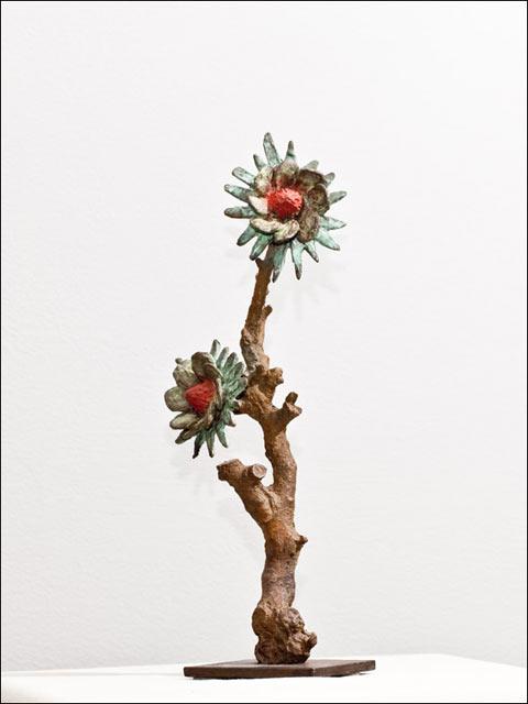 Figuras de bronce. Flores crasas 10.