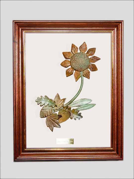 Cuadro con flores de bronce. Bronces para colgar - Cuadro 1