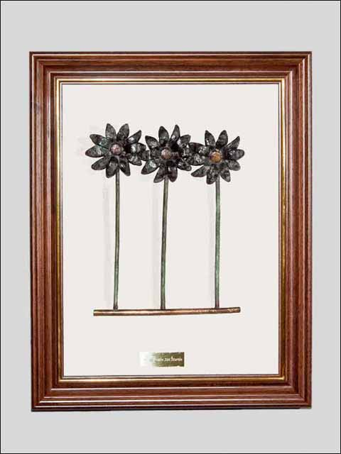Flores de bronce. Cuadro flores 2
