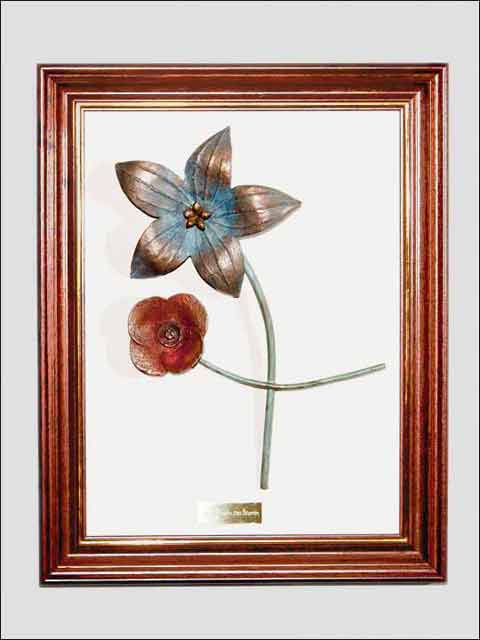flores de bropnce - cuadro flores 3
