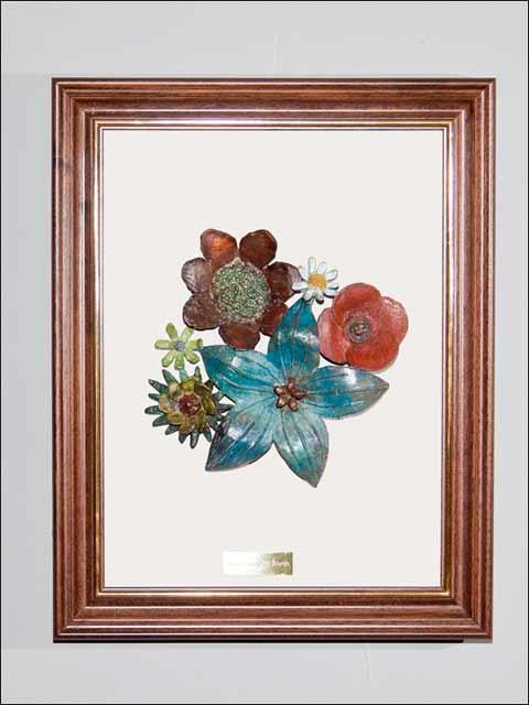 flores de bronce - cuadro flores bronce 4