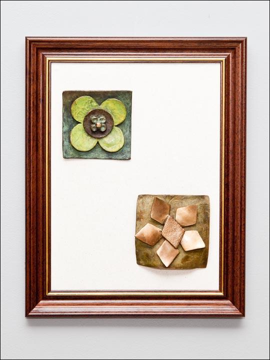 Figuras de bronce para colgar. Cuadro 6.