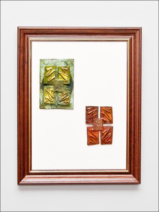 Figuras de bronce para colgar. Cuadro 9.