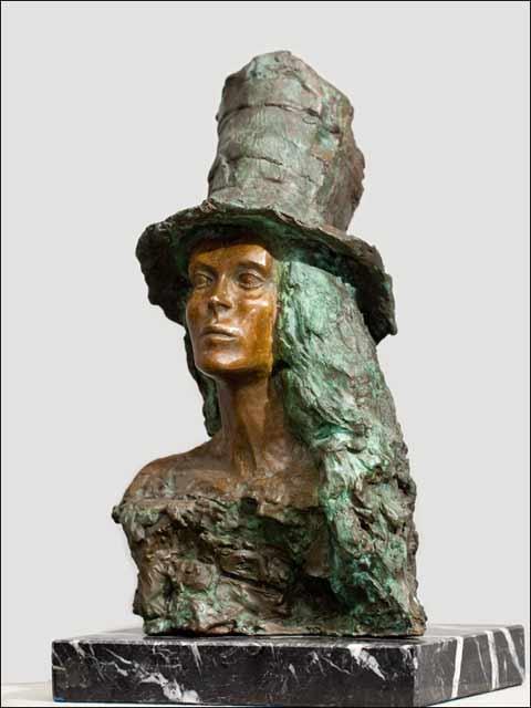 figuras decoracion - Busto de dama