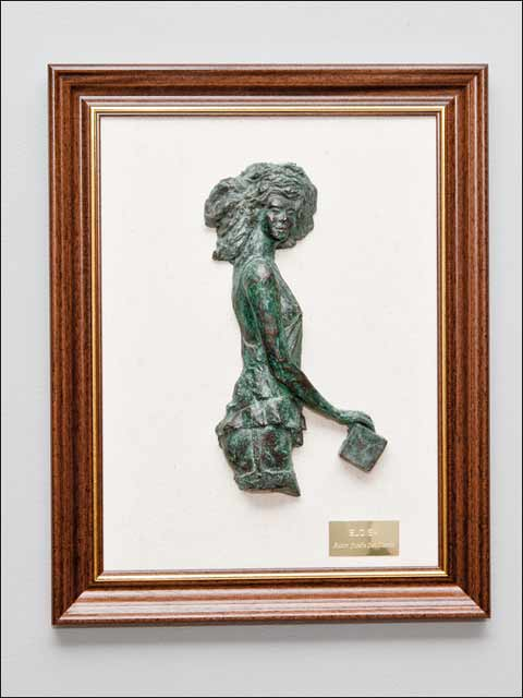 Cuadros decoracion - figuras de bronce. Eloisa