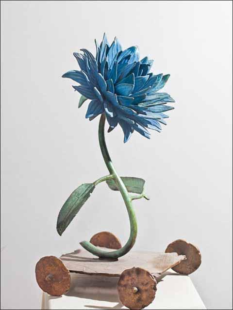 Escultura flor - Flores de bronce - Flor prusia