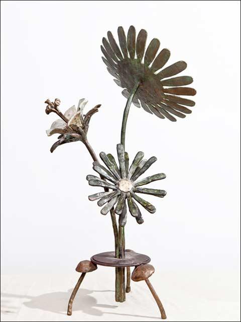 Esculturas de flores - Ramo de tres flores 2