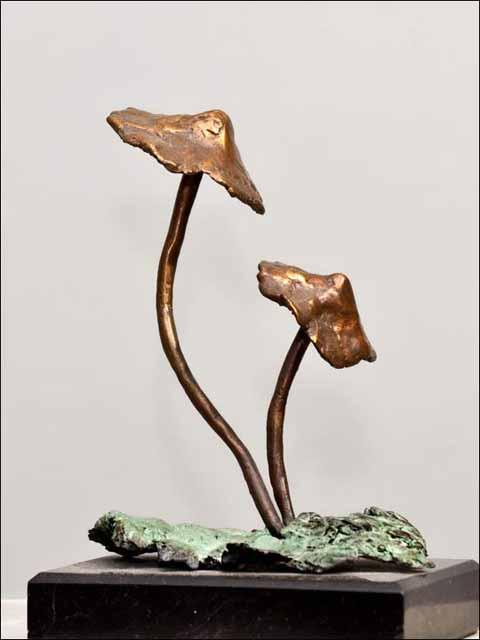 Figuras decoracion. Setas de bronce -2