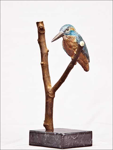 Figuras decoracion. Esculturas de pajaros - Martín Pescador-1