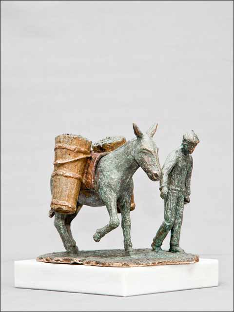 escultura de bronce. Vendimia